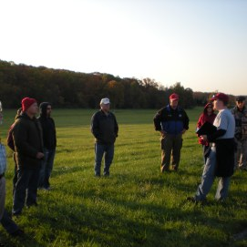 An early morning tour of the Railroad Cut at Gettysburg by member Dan Welch in (Image Courtesy Sarah Welch)