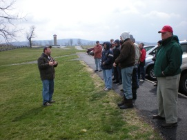 Friend of the Round Table and National Park Service Ranger John Hoptak sets the scene of the famous fighting at the Bloody Lane at Antietam National Battlefield. (Image Courtesy Dan Welch)