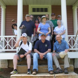 A 2018 behind-the-scenes tour of Elwood by the Friends of Wilderness Battlefield ends with a group photo. (Image Courtesy Jerry Arnsberger)