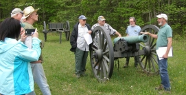 Our spring 2018 trip to the Wilderness Battlefield finds the end of our second day on the battlefield with guide Matt Atkinson at Widow Tapp field. (Image Courtesy Dan Welch)