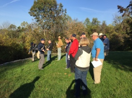 "Mosby Heritage Area Education Director Kevin Pawlak gives attendees to our ""Antietam Campaign"" tour an introduction to the battle at Sheperdstown. (Image Courtesy Gordy Morgan)"