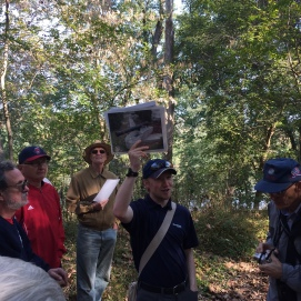 Our guide for the Sheperdstown battlefield, Kevin Pawlak, takes our group to many largely forgotten sites associated with the battle. (Image Courtesy Gordy Morgan)