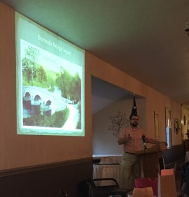 Education Manager with the American Battlefield Trust, and co-founder of Emerging Civil War, Kris White visited our group in May 2018 with a talk on the legacy of Burnside's Bridge. (Image Courtesy Gordy Morgan)
