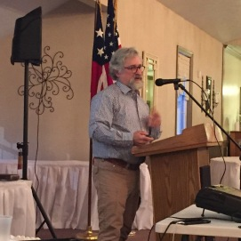 Historian, Curator at Soldiers and Sailors Memorial in Pittsburgh, and friend of the Round Table Mike Krauss gave a presentation on the Irish during the war in March 2017. (Image Courtesy Gordy Morgan)
