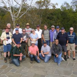 "Another group photo of attendees to our ""Antietam Campaign"" tour. This time the group pauses at the overlook to the famous Burnside's Bridge.(Image Courtesy Gordy Morgan)"
