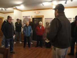 "Here members of Round Table that attended a special tour ""Retreat from Gettysburg"", explore the museum and battlefield of Monterey Pass with director John Miller. (Image Courtesy Dan Welch)"