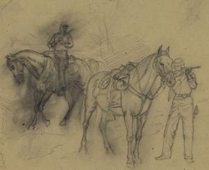 two cavalrymen A Waud LOC